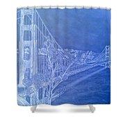 Golder Gate Bridge Inverted Shower Curtain