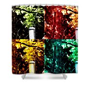 Goldfinch Collage Shower Curtain