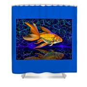 Goldfish Electric Shower Curtain