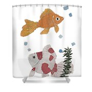 Goldfish Art Shower Curtain