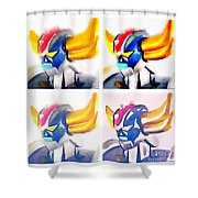 Goldoraks Shower Curtain