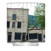 Goldrush Heritage Buildings In Dawson City Yukon Shower Curtain
