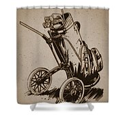 Golf Bag In The Grass  Shower Curtain