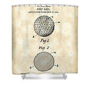 Golf Ball Patent 1906 - Parchment Shower Curtain
