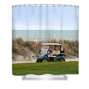 Golf Cart At Kiawah Island Golf Course Shower Curtain