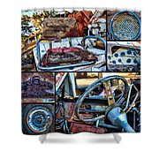 Golf Cart Collage Shower Curtain
