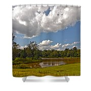 Golf Course Landscape Shower Curtain