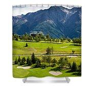 Golf Course Riederalp Valais Swiss Alps Switzerland Shower Curtain