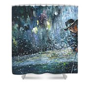 Golf Delirium Nocturnum 01 Shower Curtain