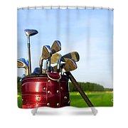Golf Gear Shower Curtain