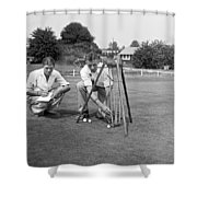 Golf Green Experiments Shower Curtain
