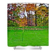 Golf My Way Shower Curtain by Frozen in Time Fine Art Photography