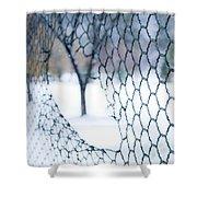 Golf Netting Shower Curtain