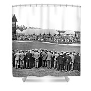 Golf Play At St. Andrews. Shower Curtain