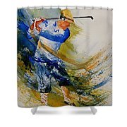 Golf Player Shower Curtain
