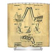 Golf Putter Patent Shower Curtain by Edward Fielding