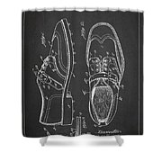 Golf Shoe Patent Drawing From 1927 Shower Curtain