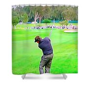 Golf Swing Drive Shower Curtain