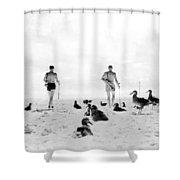 Golf With Gooney Birds Shower Curtain