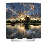 Golfcourse Sunset Shower Curtain