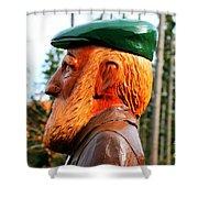 Golfer Profile Shower Curtain