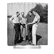 Golfers, 1938 Shower Curtain
