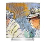 Golfers In Soufflenheim 02 Shower Curtain