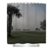 Golfing In The Fog Shower Curtain