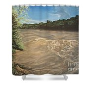 Gomez Farm San Juan River Shower Curtain
