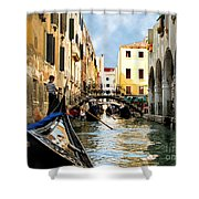 Gondola 158-venice Shower Curtain
