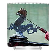 Gondola Cavai Horse Ornament Venice Italy Shower Curtain