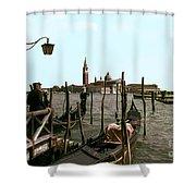 Gondola Dock Shower Curtain
