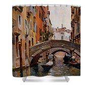 Gondola On A Venetian Canal Shower Curtain
