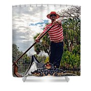 Gondola Ride In City Park New Orleans Shower Curtain