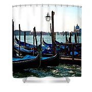 Gondolas At Rest Shower Curtain