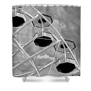 Gondolas Black And White Shower Curtain
