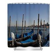 Gondolas In The Bacino Di San Marco Shower Curtain