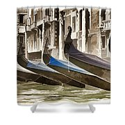 Gondolas-in-waiting   Venice Shower Curtain