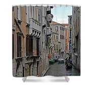 Gondolas On Backstreet Canal Shower Curtain