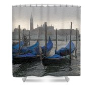 Gondolas On Grand Canal Shower Curtain