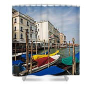 Gondolas On The Grand Canal Shower Curtain