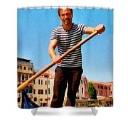 Gondolier Shower Curtain