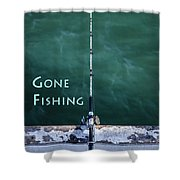 Gone Fishing At The Pier With My Rod And Reel Shower Curtain