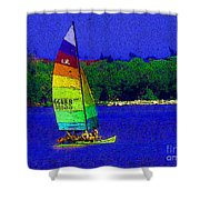 Gone For A Sail Shower Curtain