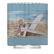 Gone For A Walk Shower Curtain