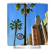 Gone Hollywood Christmas Shower Curtain