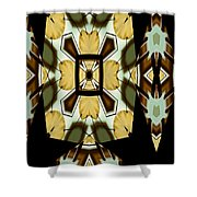 Gong Sound Mandala Yantra Shower Curtain