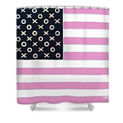 Good And Plenty America Shower Curtain