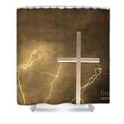 Good Friday In Sepia Texture Shower Curtain