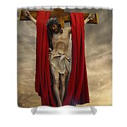 His Ultimate Gift Of Mercy - Jesus Christ Shower Curtain